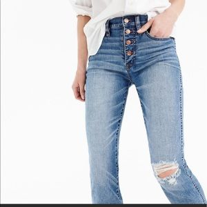 J crew vintage straight cropped jeans 27